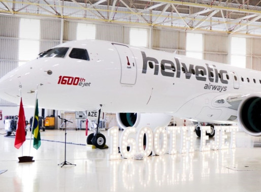 Embraer Delivers 1,600th E-Jet to Swiss Regional Carrier Helvetic Airways