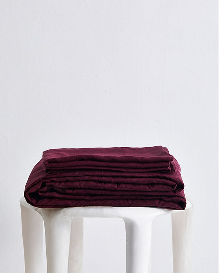 Ruby 100% Flax Linen Sheet Set