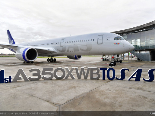 SAS Receives The First of Eight Airbus A350XWBs; Carrier Launches Sustainable Onboard Packaging