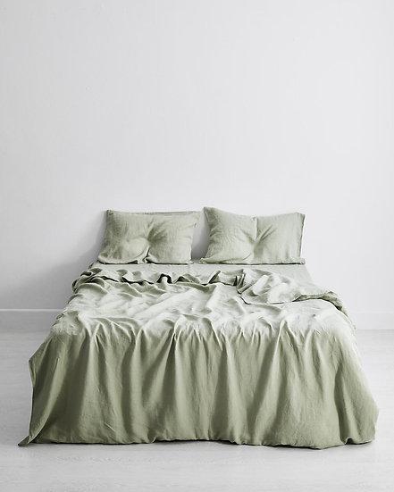 Sage 100% Flax Linen Bedding Set