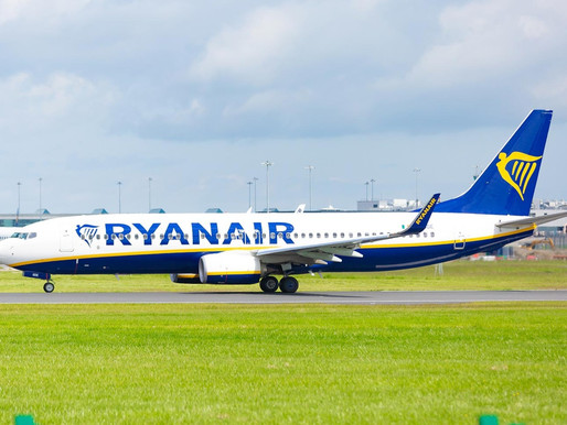 Ryanair Waives Flight Change Fees for all December and January Bookings