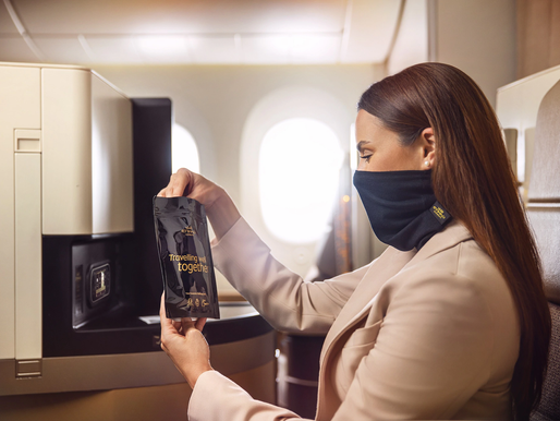 Etihad Airways Introduces New MicrobeBARRIER Facemasks for First and Business Class Guests
