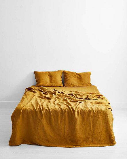 Turmeric 100% Flax Linen Bedding Set