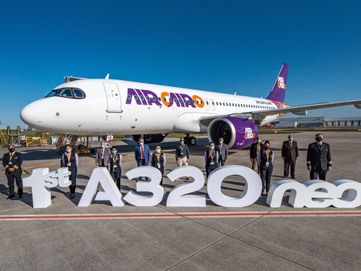 Air Cairo Takes Delivery Their First Airbus A320neo on Lease From ICBC Leasing