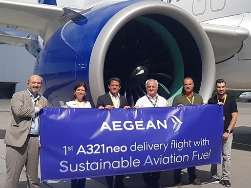 AEGEAN Welcomes Another New Airbus A321neo, The First Delivery Flight to Greece With SAF