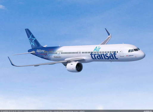 Air Transat to Make First Two Airbus A321LR Delivery Flights From Hamburg Using Sustainable Aviation