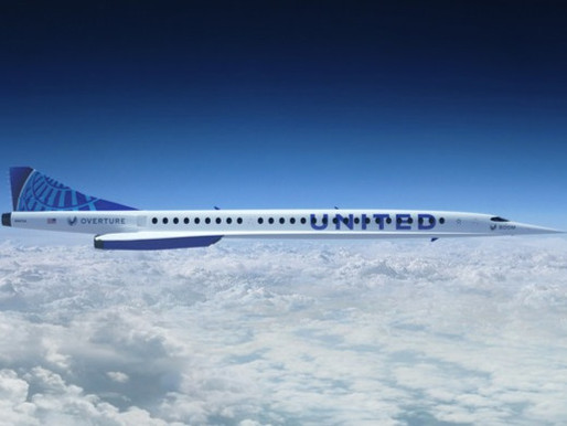 United Airlines Signs Agreement to Purchase 15 Boom Supersonic Overture Aircraft, Options 35 More