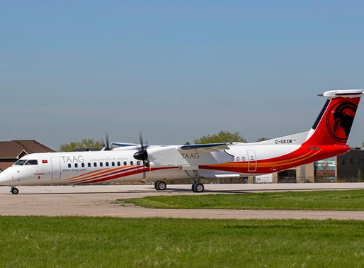 De Havilland Aircraft of Canada Delivers First of Six Dash 8-400s to TAAG Angola Airlines
