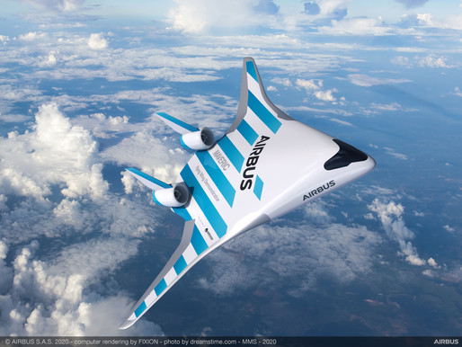 Airbus Reveals Blended Wing 'MAVERIC' Demonstrator at Singapore Airshow 2020