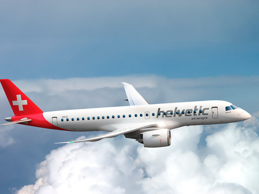 Helvetic Airways Continues Fleet Renewal With Delivery of Third Embraer E190-E2