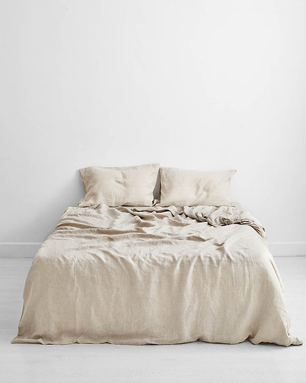 Oatmeal 100% Flax Linen Bedding Set