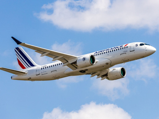 Airbus Delivers the First of 60 A220-300s on Order to Air France