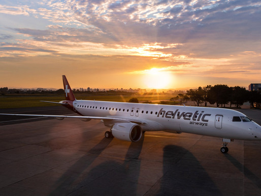 Helvetic Airways Takes Delivery of First of Four Embraer E195-E2s on Order