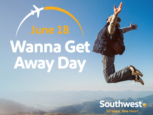 Southwest Airlines Declares June 18th 'Wanna Get Away Day' to Honor 50th Anniversary