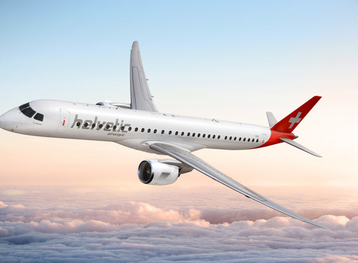 Helvetic Airways Converts Four of Seven Remaining Embraer E190-E2s on Order to Larger E195-E2s