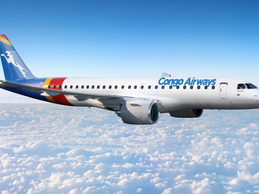 Congo Airways Converts Order for Two Embraer E175s to Two E190-E2 Jets