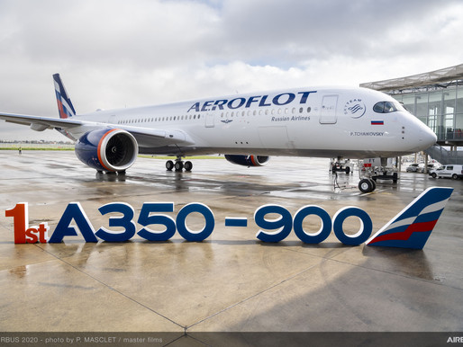 Aeroflot Takes Delivery of Their First Airbus A350-900 Out of 22 on Order