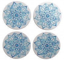Coasters Blue Mandala