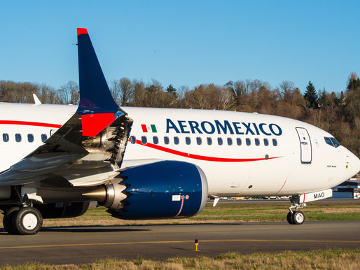 Aeromexico Welcomes First Boeing 737-9 MAX Aircraft