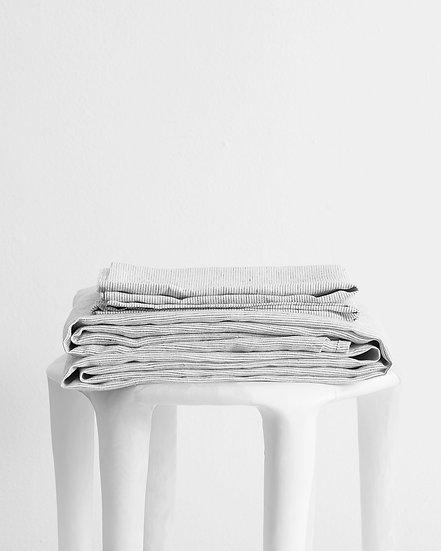 Pinstripe 100% Flax Linen Sheet Set