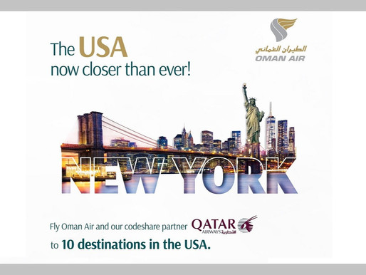 Oman Air Announces Expanded Codeshare With Qatar Airways, Offering Enhanced U.S. Connectivity