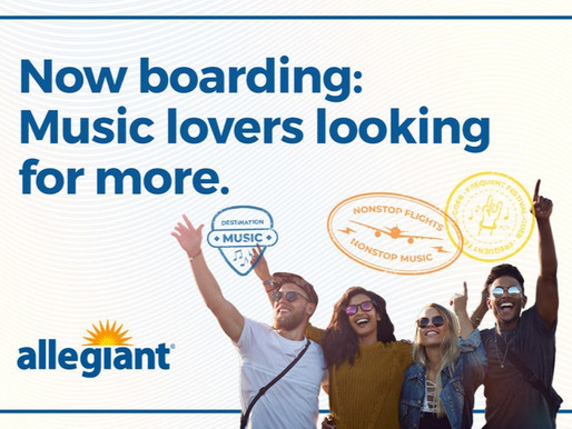 Allegiant Partners With Live Nation and Ticketmaster for Unparalleled Live Entertainment Experiences