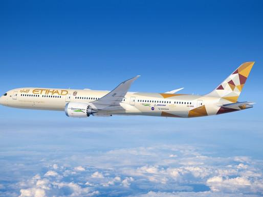 Etihad Airways Boeing 787-10 ecoDemonstrator Testing Quieter, Cleaner Air Travel