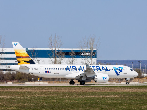 Air Austral Becomes First French Airbus A220 Operator in the Indian Ocean Region