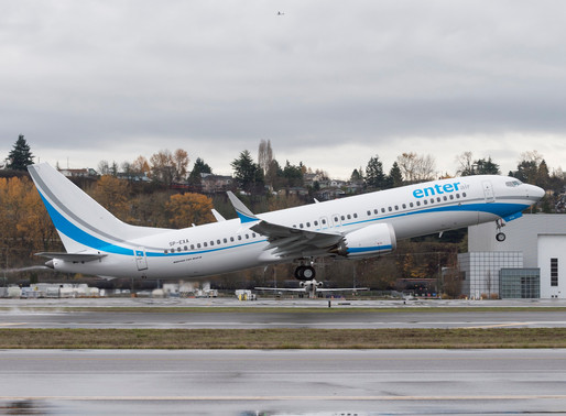Enter Air Expands MAX Fleet With Order for up to Four Boeing 737 MAX 8s