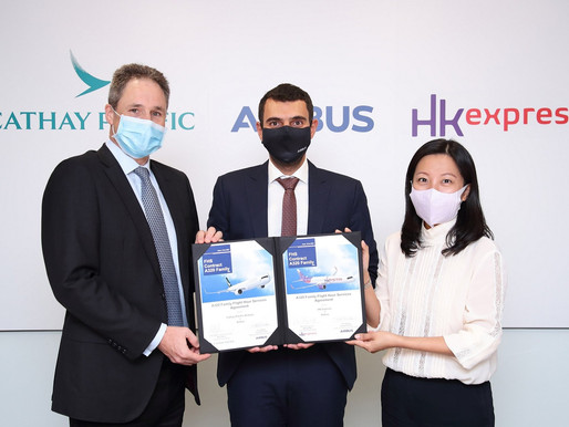 Cathay Pacific and HK Express Select Airbus' Flight Hour Services to Support A320 Family Fleets