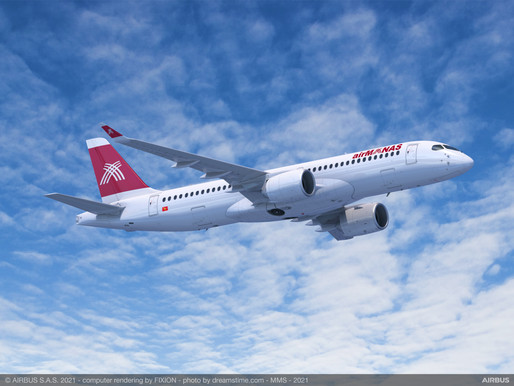 Air Manas Receives First Airbus A220-300 Powered by Pratt & Whitney GTF Engines