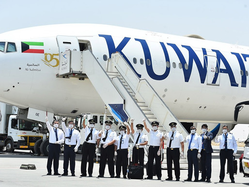 Kuwait Airways Recognized by Guangzhou Airport for Completing 100 flights Since Pandemic Onset