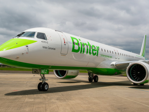 Binter Takes Delivery of First Embraer E195-E2 Powered by Pratt & Whitney GTF Engines