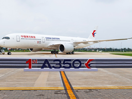 Airbus Delivers First A350 From Chinese Completion & Delivery Centre to China Eastern Airlines