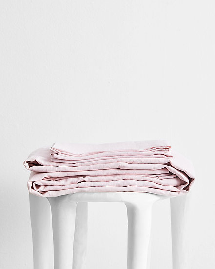 Rosewater 100% Flax Linen Sheet Set