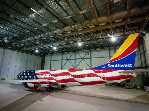 Southwest Airlines Unveils 'Freedom One' Livery to Mark 50th Anniversary