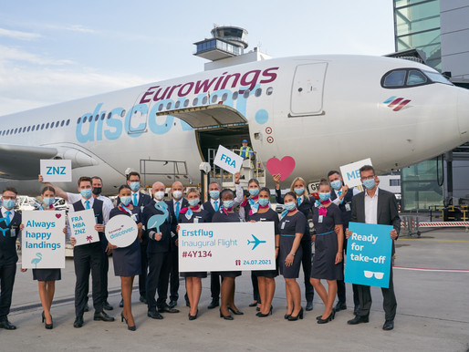 Eurowings Discover Launches Inaugural Service From Frankfurt to Mombasa and Zanzibar