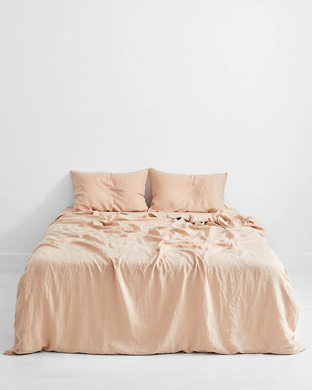 Terracotta 100% Flax Linen Bedding Set