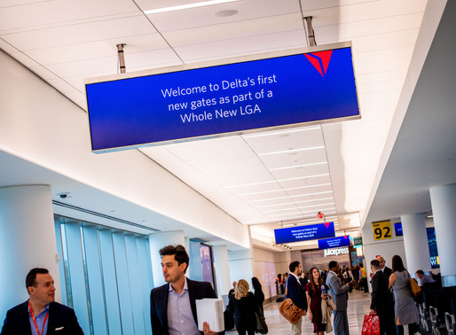 New 'Digs' for Delta at New York's LaGuardia Airport; Company Announces New Delivery Partnership