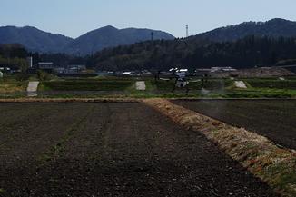 飯南町にて農薬散布ドローンMG-1デモフライトを行いました