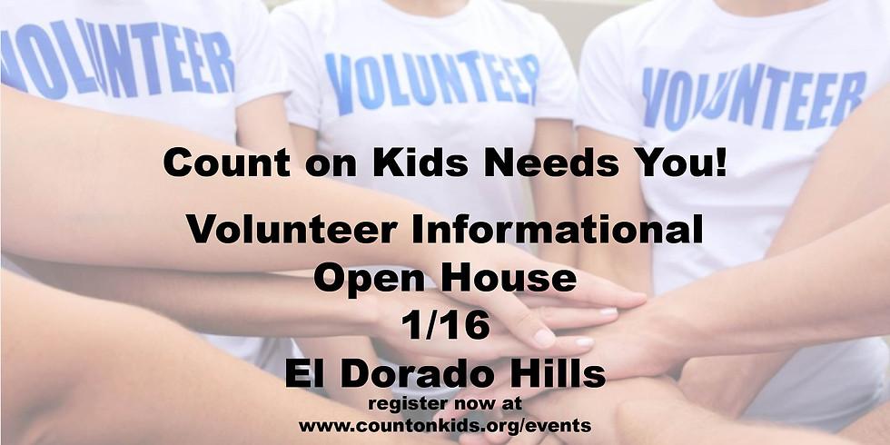 Volunteer Informational Open House - El Dorado Hills