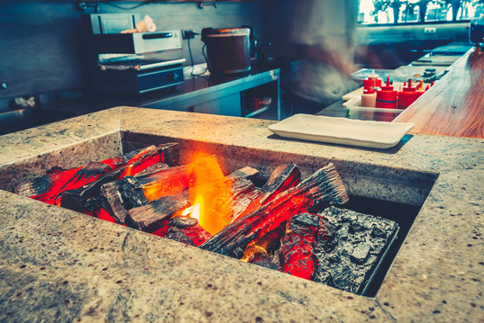 Indoor Kitchen Open Fire Grill