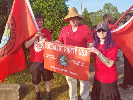Northern Piedmont Socialists Celebrate May Day in both Raleigh and Durham NC