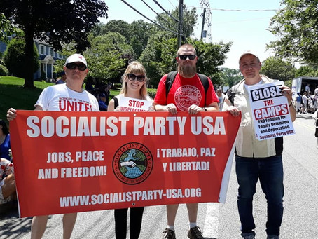 NJ Socialists March in Montclair Fourth of July Parade