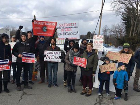 Socialists Join Momentive Picket Line in Albany NY