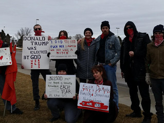 Black Hills Socialist Party Joins the  Women's March in Rapid City, SD