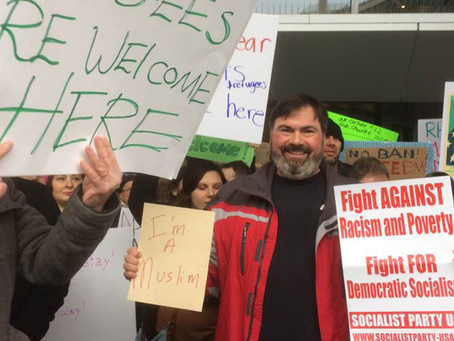 SP Members and Supporters Join Cleveland Airport Protest