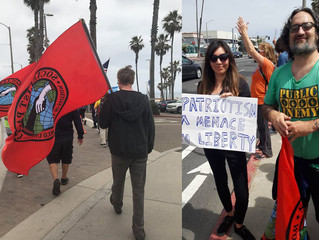 """Socialist Party of California at the """"All Out to Oppose Hatred & White Supremacy"""" Rall"""