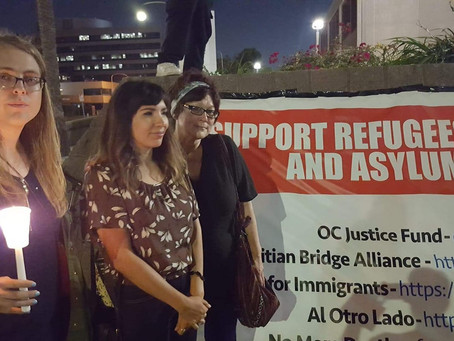Socialist Party of California Members Attend Vigils Across the State
