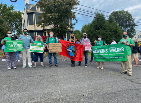 North Jersey Socialists Join the Hawkins/Walker contingent in the Botto House Labor Day Parade